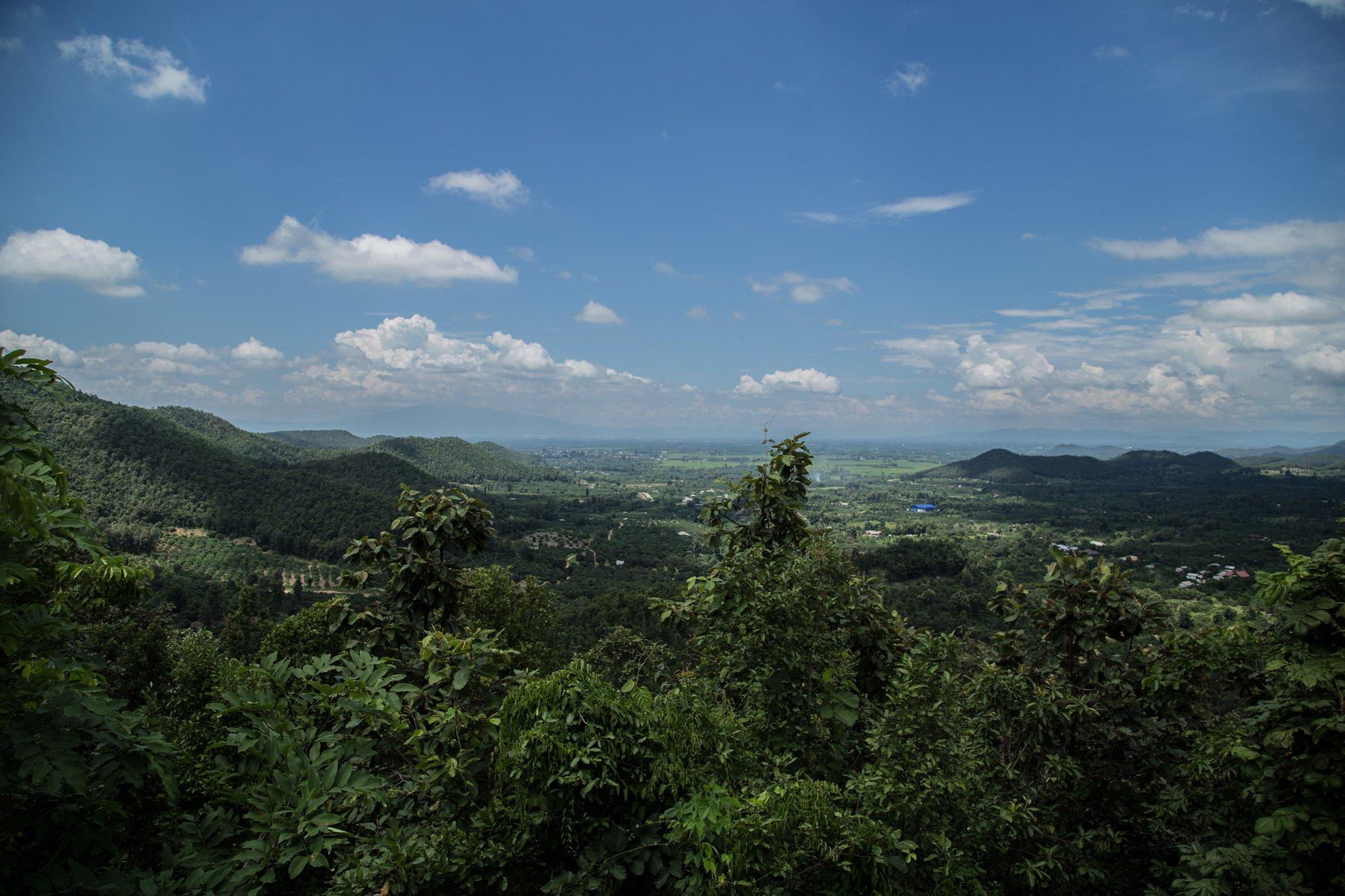 Doi Suthep on the opposite side of the valley