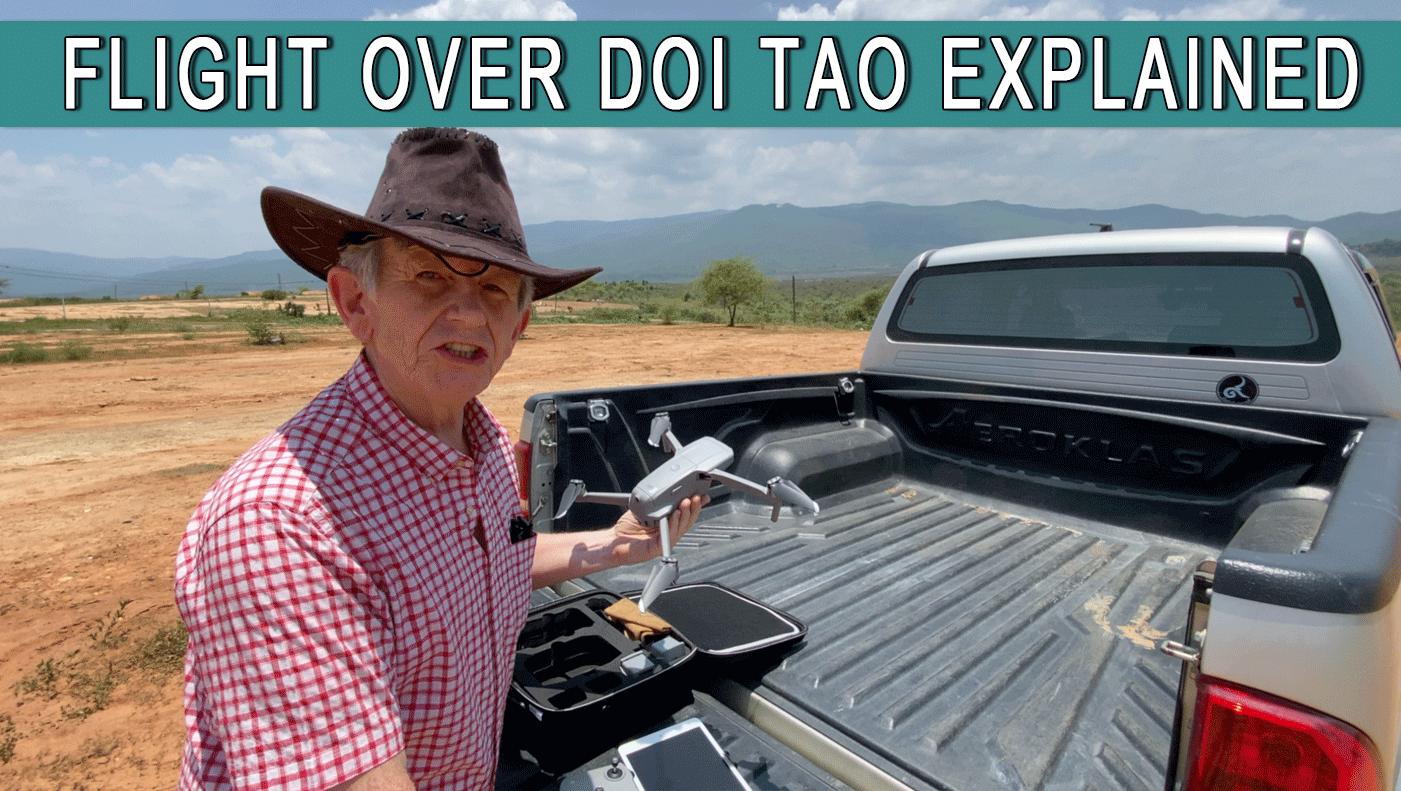 Explaining A Drone Flight Over Doi Tao Chiang Mai Thailand